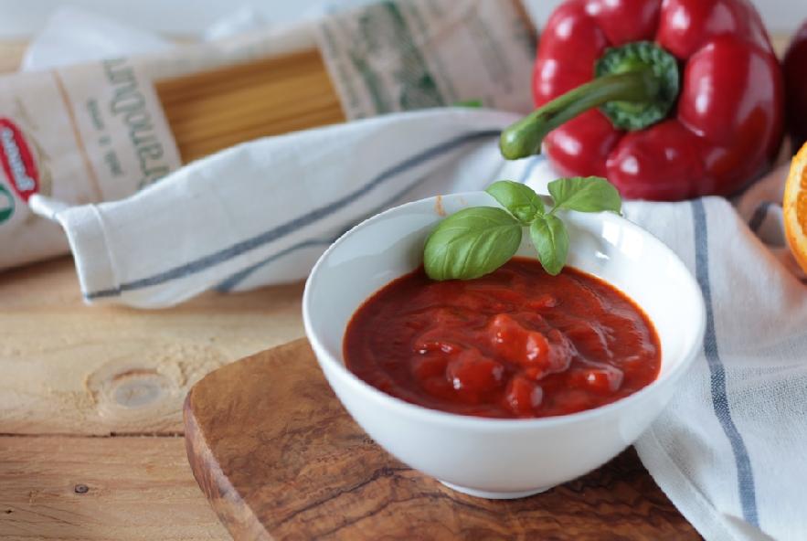 Spaghetti, crema di peperoni all'arancia e baccalà - Step 2 - Immagine 1