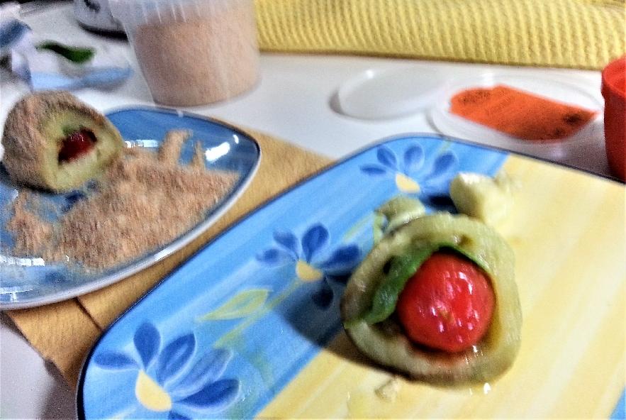 Triglia su melanzana fritta e colatura di provola - Step 4 - Immagine 1