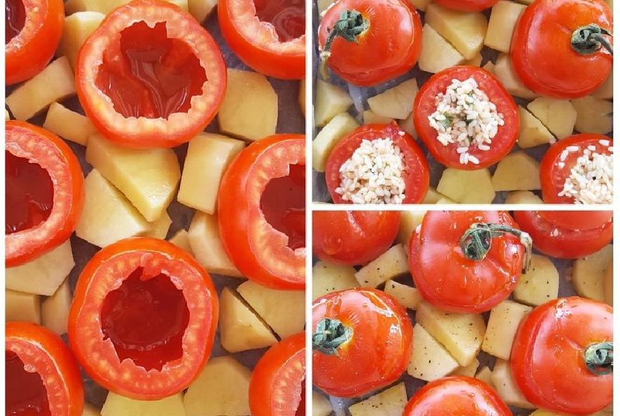 Pomodori ripieni di riso alla romana - Step 5 - Immagine 1