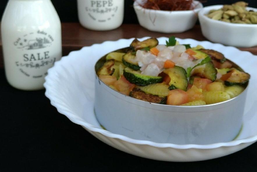 Gnocchi sardi crema di zucchine tartare di gamberi - Step 8 - Immagine 1