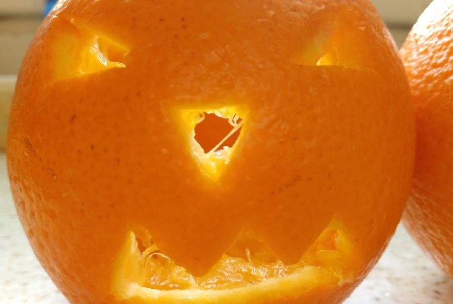 Jack o'salad nell'arancia - Step 2 - Immagine 1