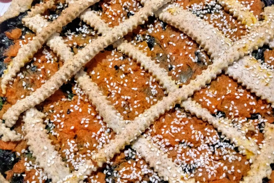 Torta salata di pasta brisè con zucca e spinaci - Step 5 - Immagine 2