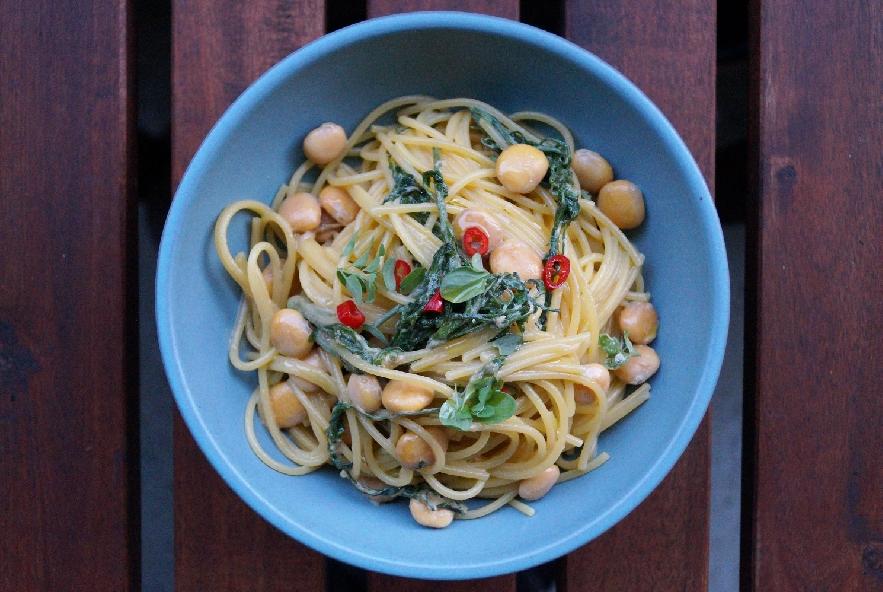 Spaghetti al mais con lupini e vitalba - Step 5 - Immagine 1