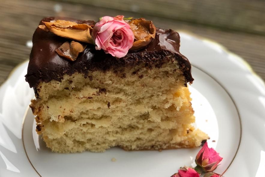Chiffon cake alla rosa e petali caramellati - Step 6 - Immagine 2