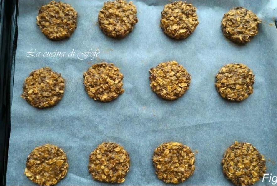 Cookies con fiocchi di avena e cioccolato - Step 4 - Immagine 1