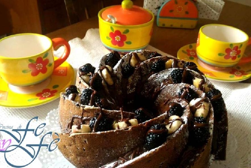Bundtcake con banane, gelsi e cioccolato - Step 6 - Immagine 1