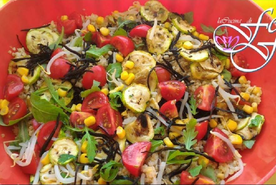 Bulgur con zucchine pomodorini e alghe arame - Step 4 - Immagine 1
