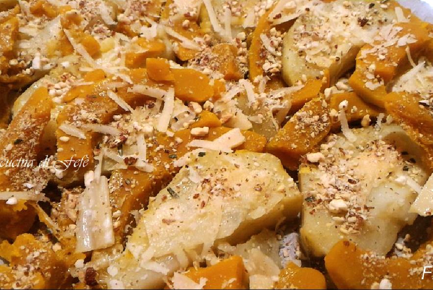 Patate dolci gratinate con zucca e nocciole - Step 2 - Immagine 1