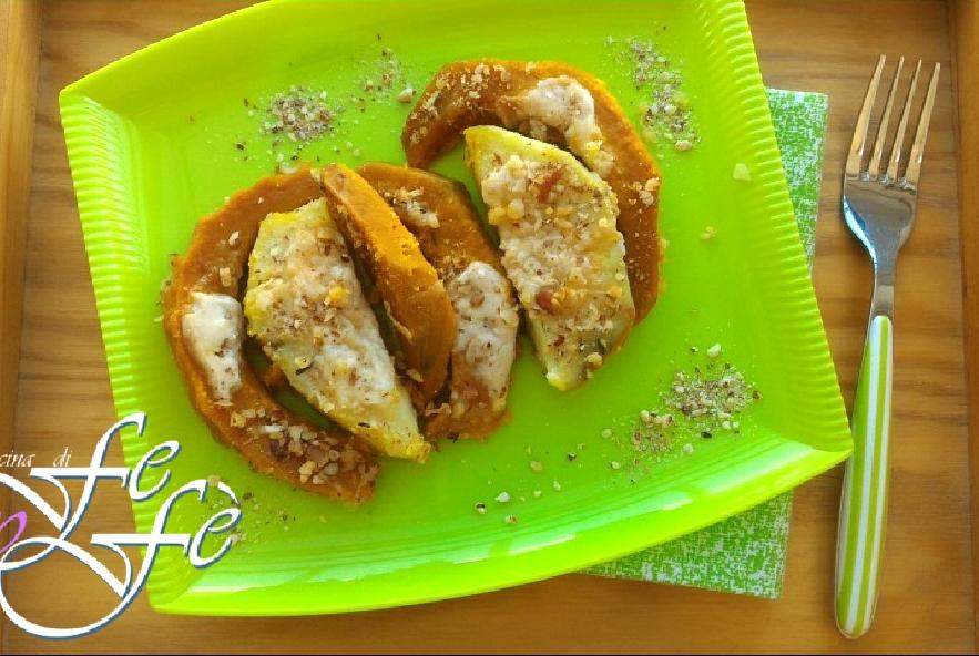 Patate dolci gratinate con zucca e nocciole - Step 3 - Immagine 1