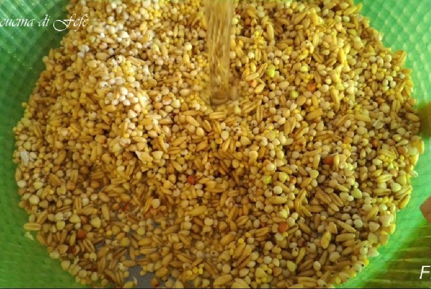 Zuppa di cereali e ceci in crema di broccoli - Step 1 - Immagine 1