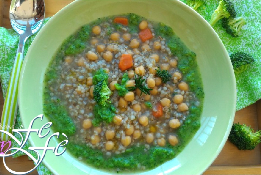 Zuppa di cereali e ceci in crema di broccoli - Step 7 - Immagine 1