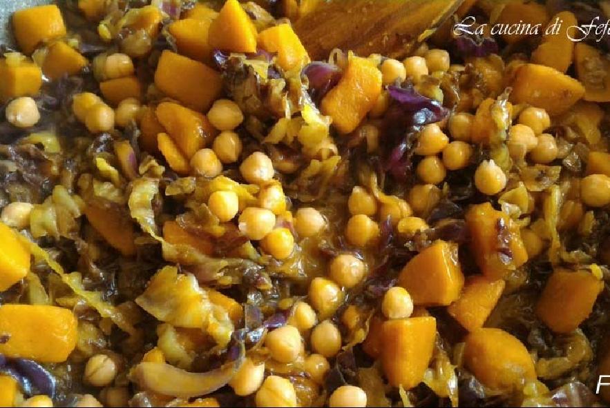 Cous cous con zucca, radicchio e mandorle - Step 8 - Immagine 1