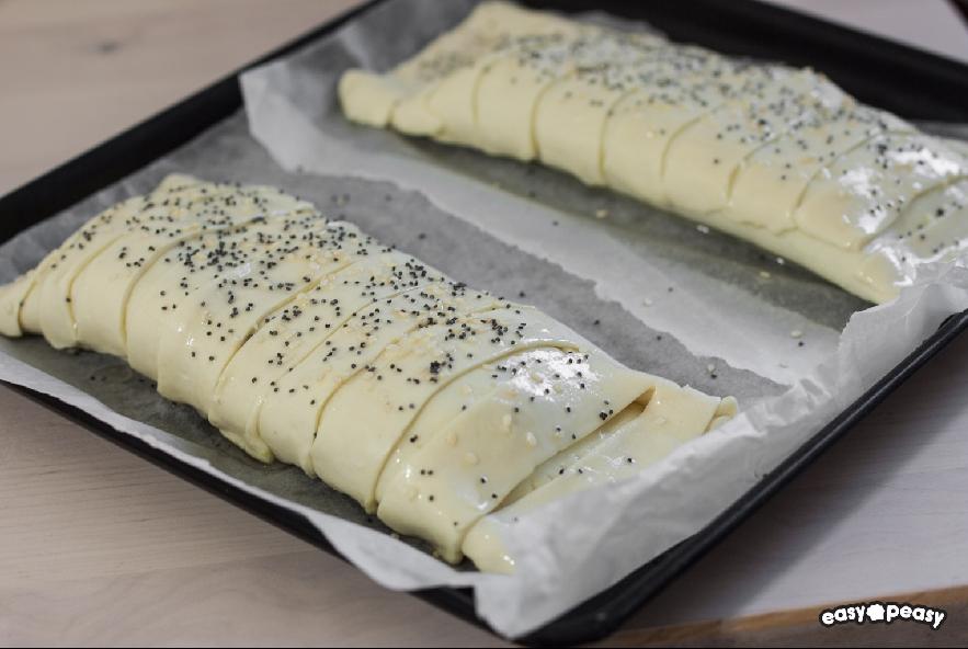 Strudel di zucchine, prosciutto e formaggio - Step 4 - Immagine 1
