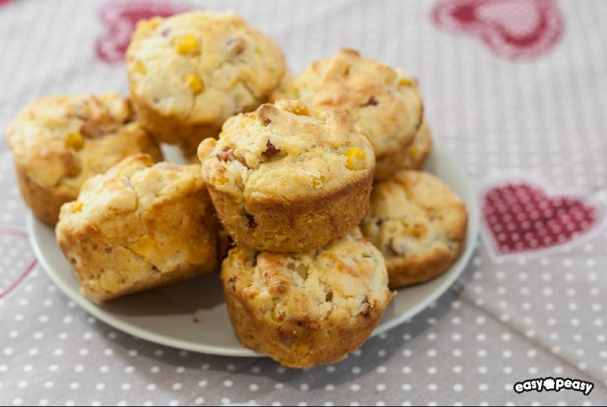 Muffin salati prosciutto e formaggio - Step 4 - Immagine 1