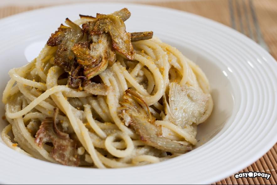 Spaghetti carciofi e bottarga - Step 4 - Immagine 1