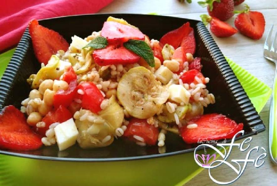 Orzo perlato con ceci, zucchine e fragole - Step 4 - Immagine 1
