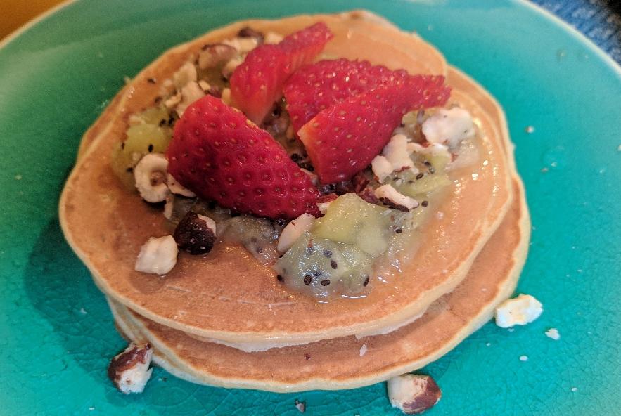 Pancake alla banana senza lievito e coulis di kiwi - Step 4 - Immagine 2