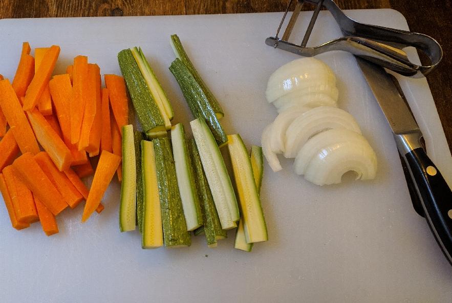Tofu alle verdure croccanti e soia - Step 1 - Immagine 1