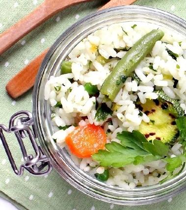 Insalata di riso con cremolada e verdure