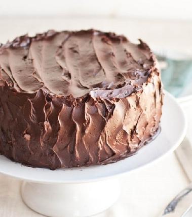 Torta integrale con ganache al cioccolato