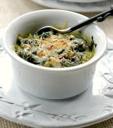 Gratin di zucchine e spinaci