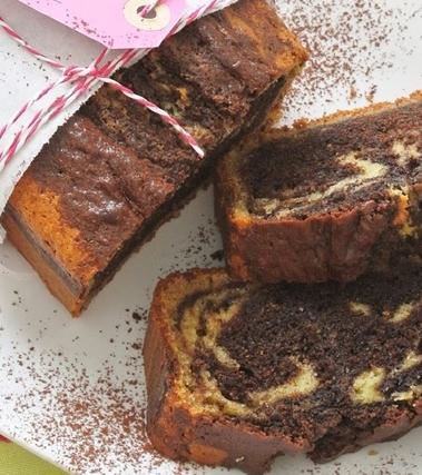 Cake al mascarpone variegato al cacao e caffè