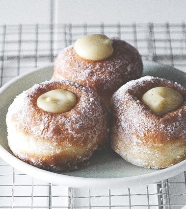 Bombette con crema alla vaniglia