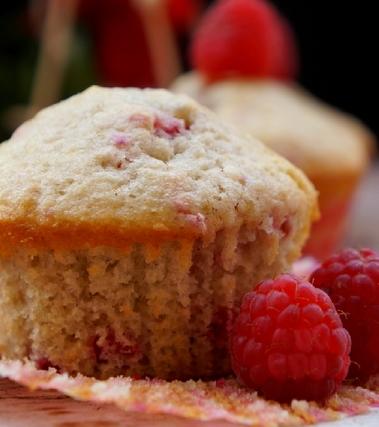 Muffin ai lamponi freschi