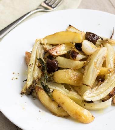 Grecata di patate e finocchi