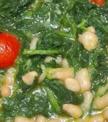Zuppa di fagioli con cime di rapa