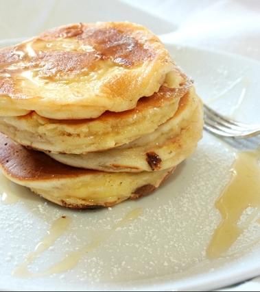 Mini pancakes alle mele