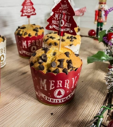 Muffin vaniglia e gocce di cioccolato