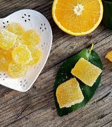 Caramelle gelee all'arancia