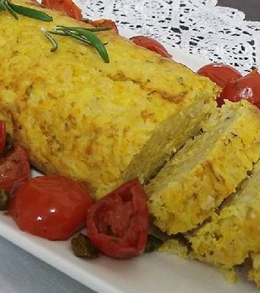 Polpettone vegetariano di fagioli e riso