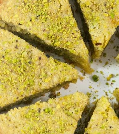 Torta al pistacchio gluten-free