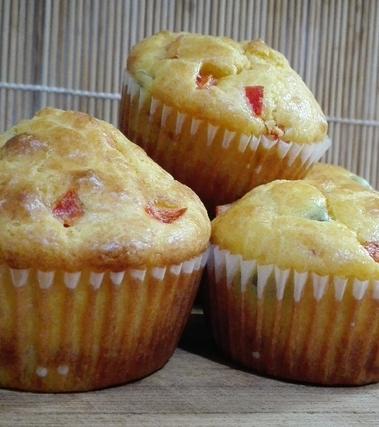 Muffin peperoni e olive