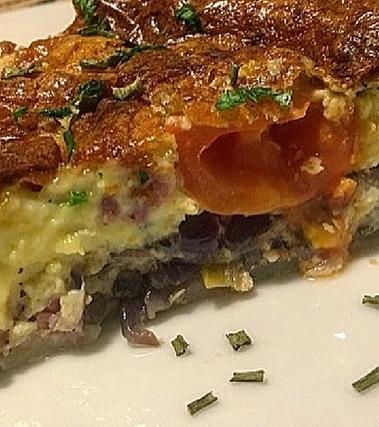 Torta di cipolle rosse e gorgonzola