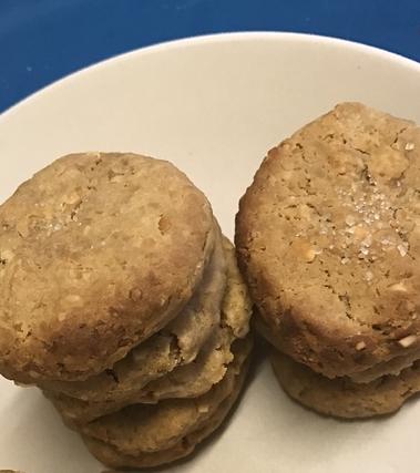 Biscotti al burro di arachidi e ceci