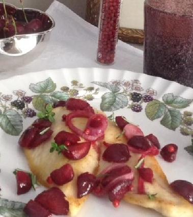 Petto di pollo alle ciliegie di pecetto