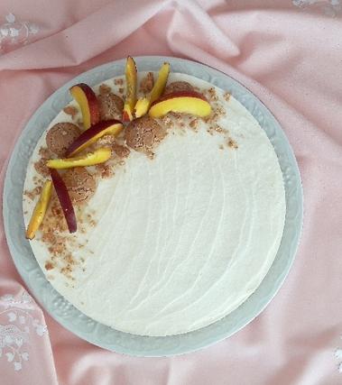 Cheesecake senza cottura con le pesche