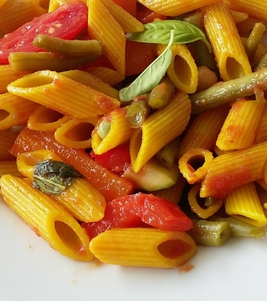 Penne colorate alle verdure