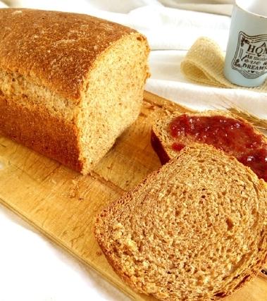 Pane integrale al latte di riso, lievito naturale