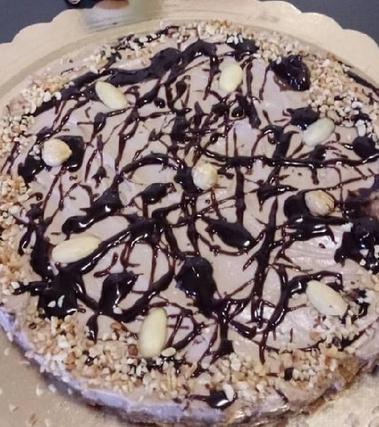 Cheesecake vegan con il cuore di stracciatella