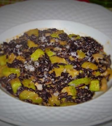 Riso nero integrale vegetariano con sale di maldon