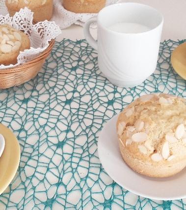 Muffins al latte di mandorla