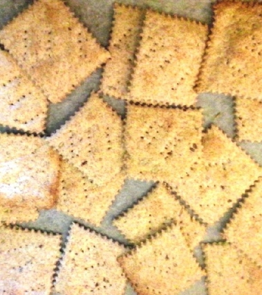 Crackers integrali con mix di semini