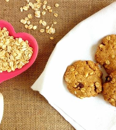 Biscotti al malto e fiocchi d'avena