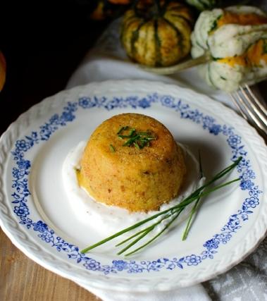 Tortini di zucca e patate ripieni al tonno