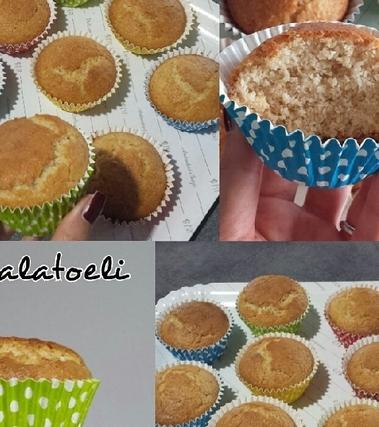 Muffin al cocco e zagara senza uova e burro