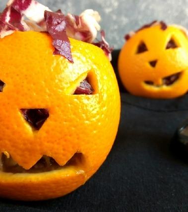 Jack o'salad nell'arancia